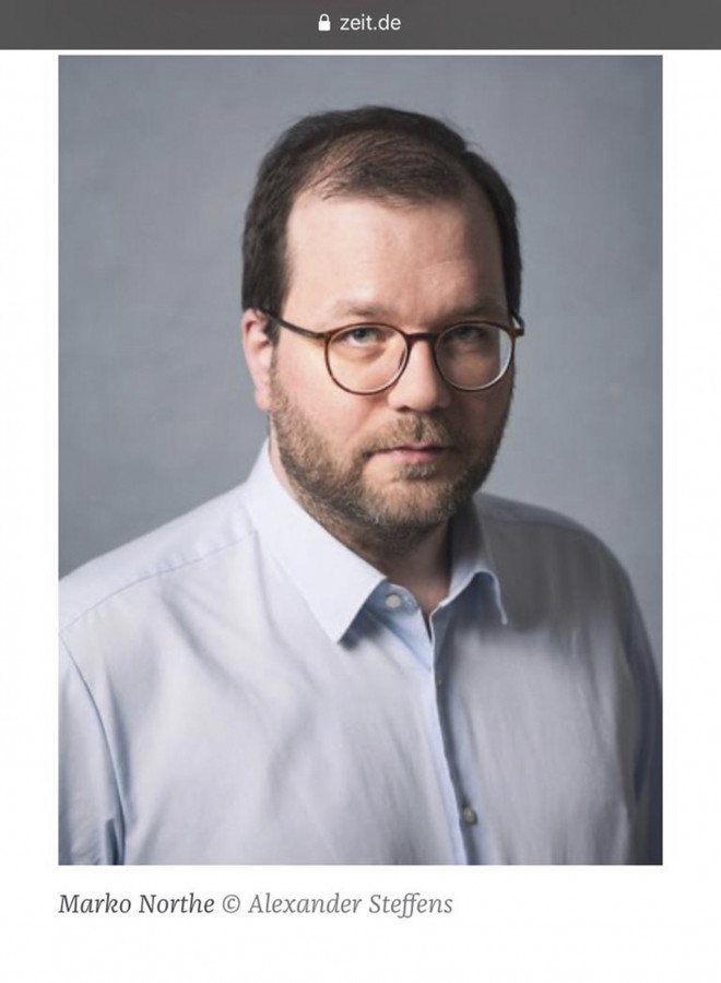 Zeit Online mit meinem Portrait des Journalisten und Leiter der Online Redaktion des Cicero Magazins Marko Northe.